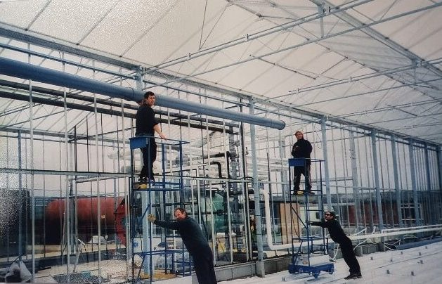 Construction of Glasshouse 'Fred'